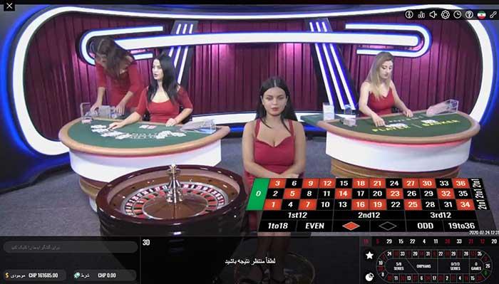 بازی رولت زنده در کازینو زنده سایت BTL90