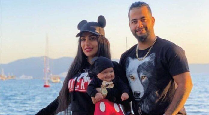 میلاد حاتمی مدیر سایت شرط بندی ولف بت به همراه همسر و فرزندش