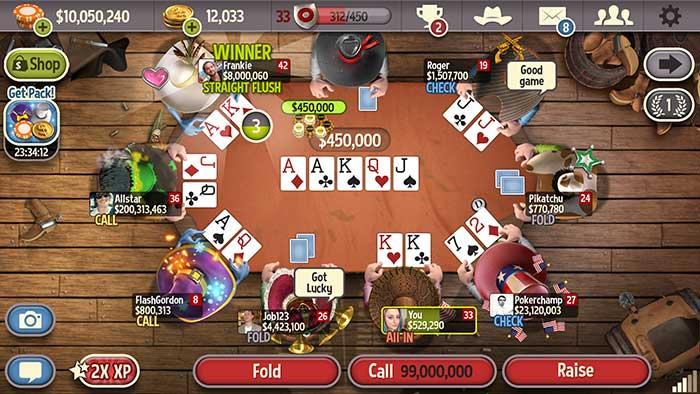 اپلیکیشن بازی پوکر آنلاین Governor of Poker