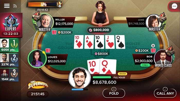 اپلیکیشن بازی پوکر آنلاین Poker Heat
