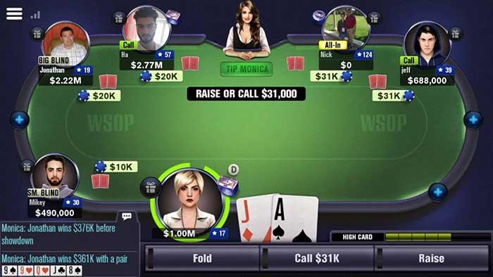 اپلیکیشن بازی پوکر آنلاین WSOP